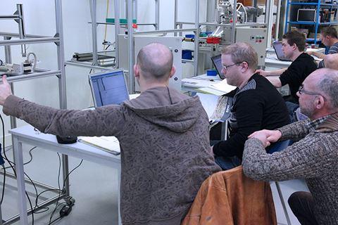 Cursisten PLC-techniek met CoDeSys - basis